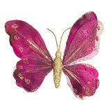 蝴蝶圣诞树装饰品 免版税库存照片