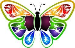 蝴蝶妇女商标 皇族释放例证