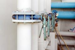 蝶形阀系列在供应的浇灌管道系统 免版税库存图片