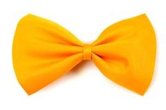 蝶形领结黄色 库存图片