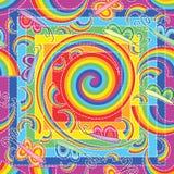 蝴蝶彩虹无缝的样式 库存照片
