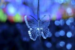 蝴蝶抽象水晶背景 库存照片