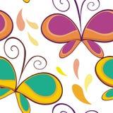 蝴蝶无缝的样式设计 皇族释放例证