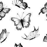 蝴蝶无缝的样式,传染媒介例证 库存图片