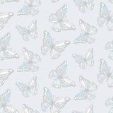 蝴蝶无缝的背景 库存图片