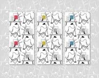 蝴蝶椅子传染媒介无缝的背景 设计家具 免版税图库摄影