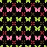 蝴蝶模式无缝的向量 时髦的图表纹理 免版税库存图片