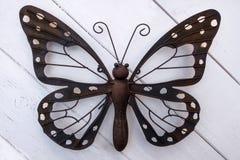 蝴蝶由金属制成 库存照片