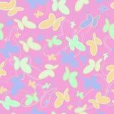 蝴蝶的样式在桃红色背景的 免版税库存照片