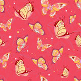 蝴蝶的样式 免版税库存照片