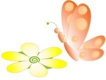 蝶粉花 向量例证