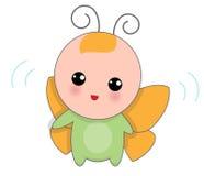 蝴蝶衣服的婴孩 免版税库存照片