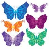 蝴蝶设置了 免版税库存照片