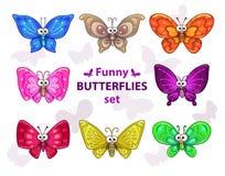 蝴蝶设置了 库存例证