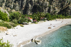 蝴蝶谷海滩,土耳其- 6月01 免版税图库摄影