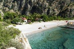 蝴蝶谷海滩,土耳其- 6月01 库存照片