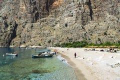蝴蝶谷海滩,土耳其- 6月01 免版税库存图片