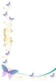 蝴蝶边界/框架 库存例证