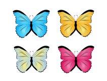 蝴蝶集合例证 免版税库存图片