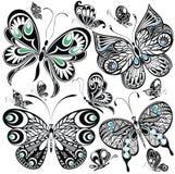 蝴蝶集 库存照片