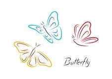 蝴蝶颜色装饰设计图象例证向量 免版税库存照片
