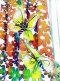 蝴蝶颜色装饰设计图象例证向量 图库摄影