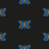 蝴蝶马赛克样式 免版税库存图片