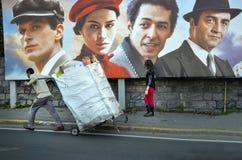 蝴蝶马路电影海报的梦想的土耳其生产 免版税库存照片