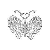 蝴蝶zentangle 库存图片