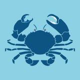 螃蟹剪影标志,标志 免版税库存图片