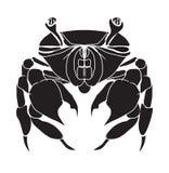螃蟹剪影 免版税库存图片