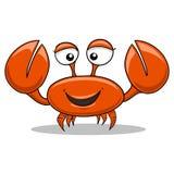 螃蟹动画片彩色插图 免版税库存图片