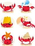 螃蟹动画片集合 免版税库存图片