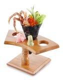 螃蟹壳虚拟temaki 免版税库存照片