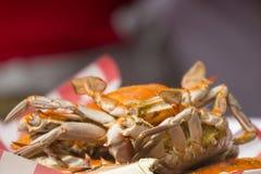 螃蟹晚餐 免版税库存照片
