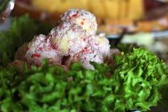 螃蟹棍子快餐  图库摄影