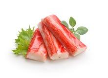 螃蟹棍子(surimi的模仿) 免版税库存图片