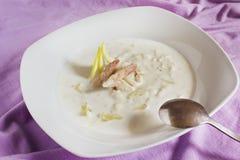 螃蟹汤 免版税图库摄影