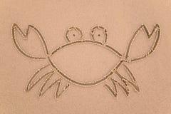 螃蟹沙子 免版税库存图片