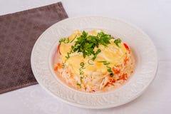 螃蟹沙拉用甜椒 库存图片