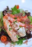 螃蟹沙拉 免版税库存图片