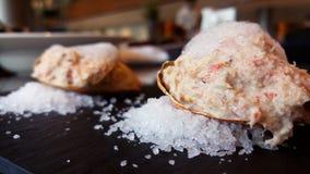 螃蟹浆糊,沙拉,开胃菜 免版税库存图片