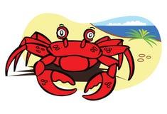 螃蟹海洋红色沙子 库存照片