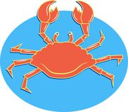 螃蟹海运 皇族释放例证