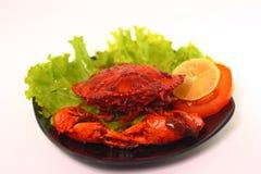 螃蟹烹调 免版税库存照片
