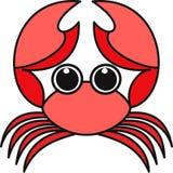 螃蟹的传染媒介例证 免版税图库摄影