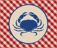 螃蟹的葡萄酒例证 库存照片