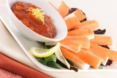 螃蟹细致的国王快餐 免版税图库摄影