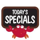 螃蟹藏品查出的符号 库存照片