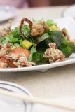 螃蟹软沙拉的壳 库存照片